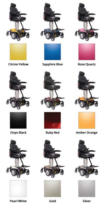 Jazzy Air Power Chair Color Options