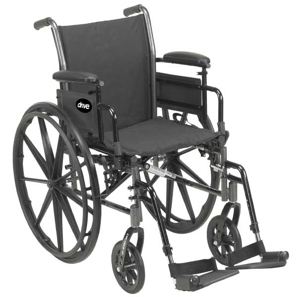 Cruiser III Light Weight Wheelchair with Flip Back Removable Arms