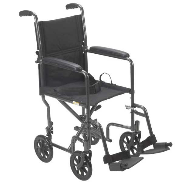Lightweight Steel Transport Wheelchair