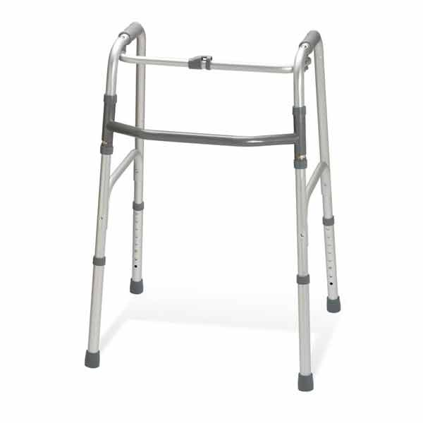 Photo of a One Button Folding Walker.