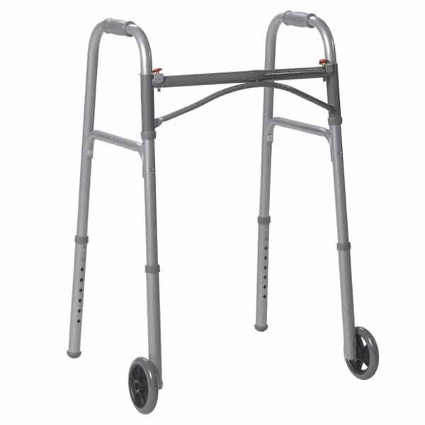 Photo of a Two Button Folding Walker.