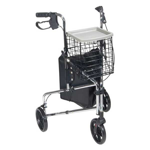 Photo of a 3 wheel Rollator.
